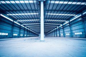 empty steel structure warehouse
