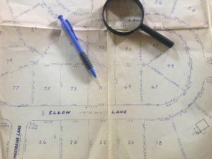 Map of neighborhood property lines